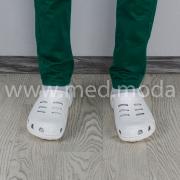 Медичні сабо Coqui (Чехія), чоловічі, білі