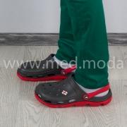 Медичні сабо Jose Amorales (Україна), сіро-червоні, чоловічі