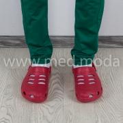 Медичні сабо Coqui (Чехія), чоловічі, червоні