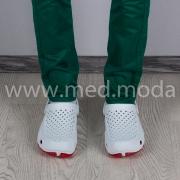 Медичні сабо JA (Україна), біло-червоні, чоловічі
