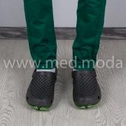Медичні сабо JA (Україна), сіро-салатові, чоловічі