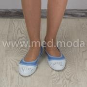 Балетки Jose Amorales (Україна), біло-сині