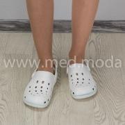 Медичні сабо Coqui (Чехія), жіночі, біло-м'ятні