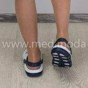 Медичні сабо JA (Україна), біло-сині