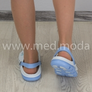 Медичні сабо JA (Україна), біло-блакитні, жіночі
