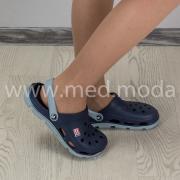 Медичні сабо JA (Україна), синьо-сірі, жіночі