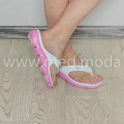 Шльопанці JA (Україна), жіночі, біло-рожеві
