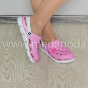 Медичні сабо JA (Україна), рожево-білі, жіночі