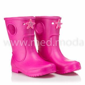 Гумові чоботи JA (Україна), дитячі, малинові