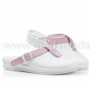 Медичні сабо Tellus (Молдова), біло-рожеві