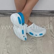 Медичні сабо Jose Amorales (Україна), біло-блакиті, жіночі