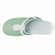 Медичні сабо Tellus (Молдова), зелено-білі + перфорація