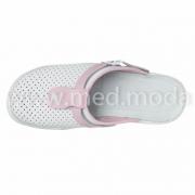 Медичні сабо Tellus (Молдова), біло-рожеві + перфорація