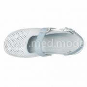 Медичні босоніжки Tellus (Молдова), біло-блакитні