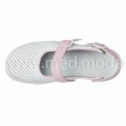 Медичні босоніжки Tellus (Молдова), біло-рожеві