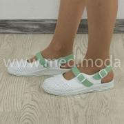 Медичні босоніжки Tellus (Молдова), біло-зелені