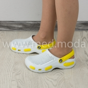 Медичні сабо Jose Amorales (Україна), біло-жовті, жіночі
