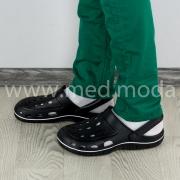 Медичні сабо Coqui (Чехія), чоловічі, чорні