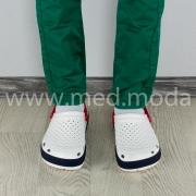 Медичні сабо Coqui (Чехія), чоловічі, біло-сині