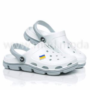 Медичні сабо JA (Україна), біло-сірі, жіночі