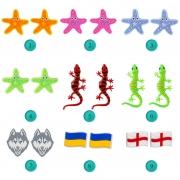 Медичні сабо JA (Україна), синьо-салатові, жіночі